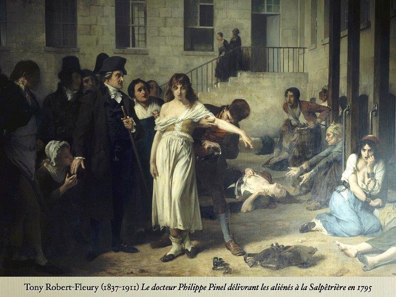 Картина Роберта Флери Доктор Пинель в Сальпетриере