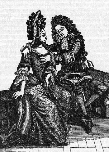 Чувствительность. Галантная французская гравюра XVIII века.
