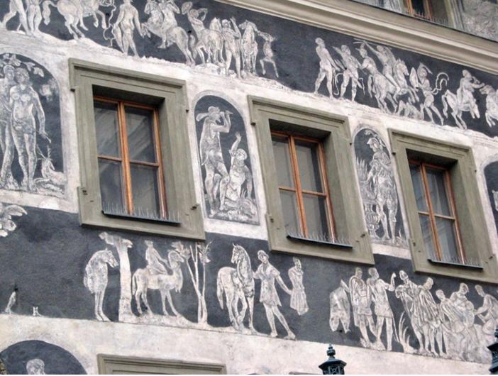 «Дом у Минуты». Фрагмент росписи на мифологические темы. фото