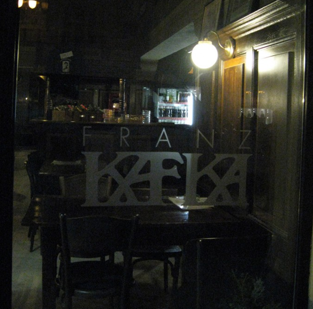 Кафе «Франц Кафка» в центре Праги.