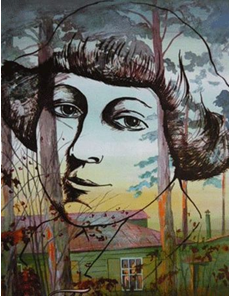 Фрагмент триптиха Виталия Глебовича Клеруа (1954 г. р. ) «М.И. Цветаева. Возвращение».