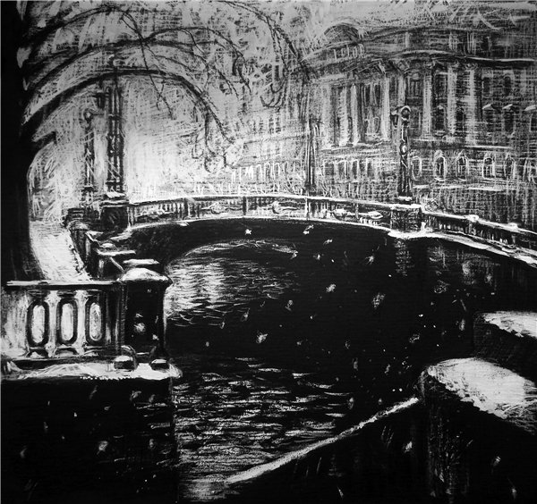 Снег в городе. Ирина Бодрова