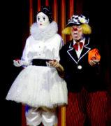 Попов с женой и партнершей клоунессой Габи